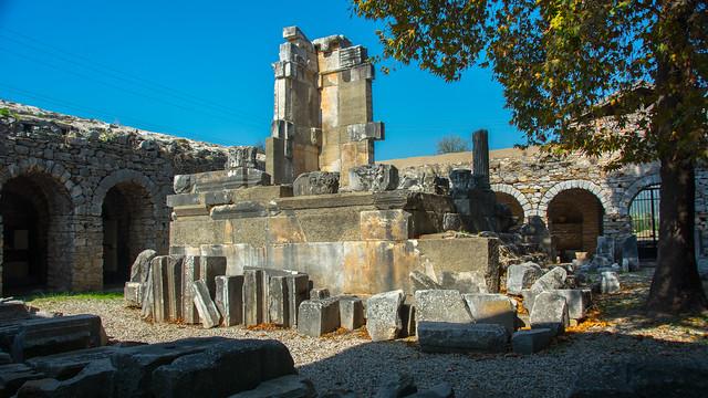 IASOS Ancient Greek City.   Old Fish Market.  Gulf of Güllük   Turkey