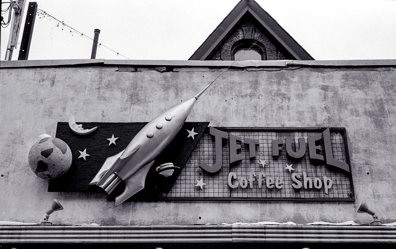 Jet Fuel Coffee Shop Sign_
