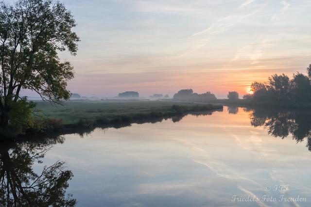 Sunrise at the Drepte Siel