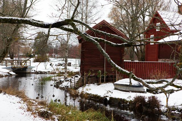 First snow in Gamla by Avesta / Sweden