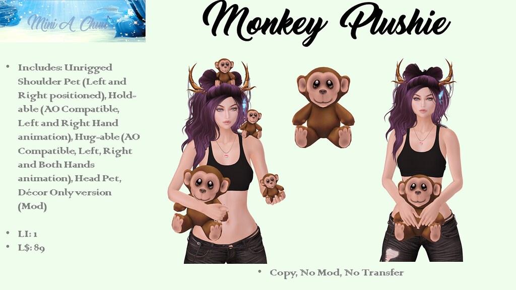 Monkey Plushie