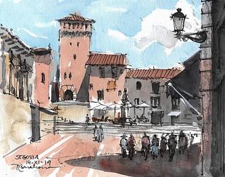 Calle Juan Bravo. Segovia.