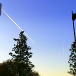 Chem trail and lamps at Preston