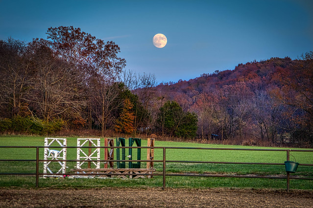 Moon over Possum Hollow Road