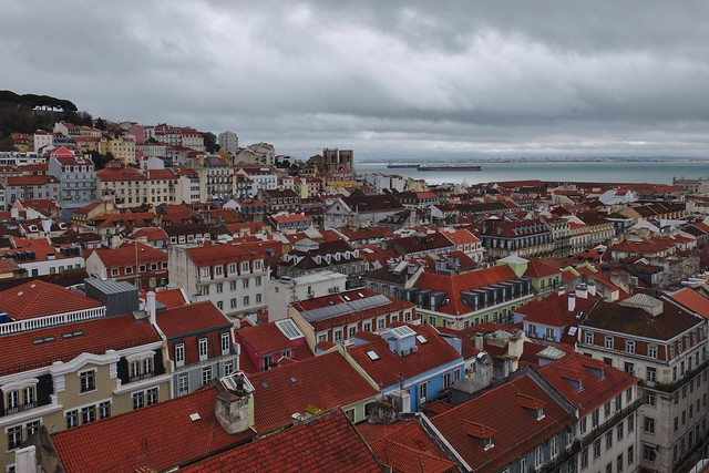 Lisbon (PT) seen from Elevador de Santa Justa