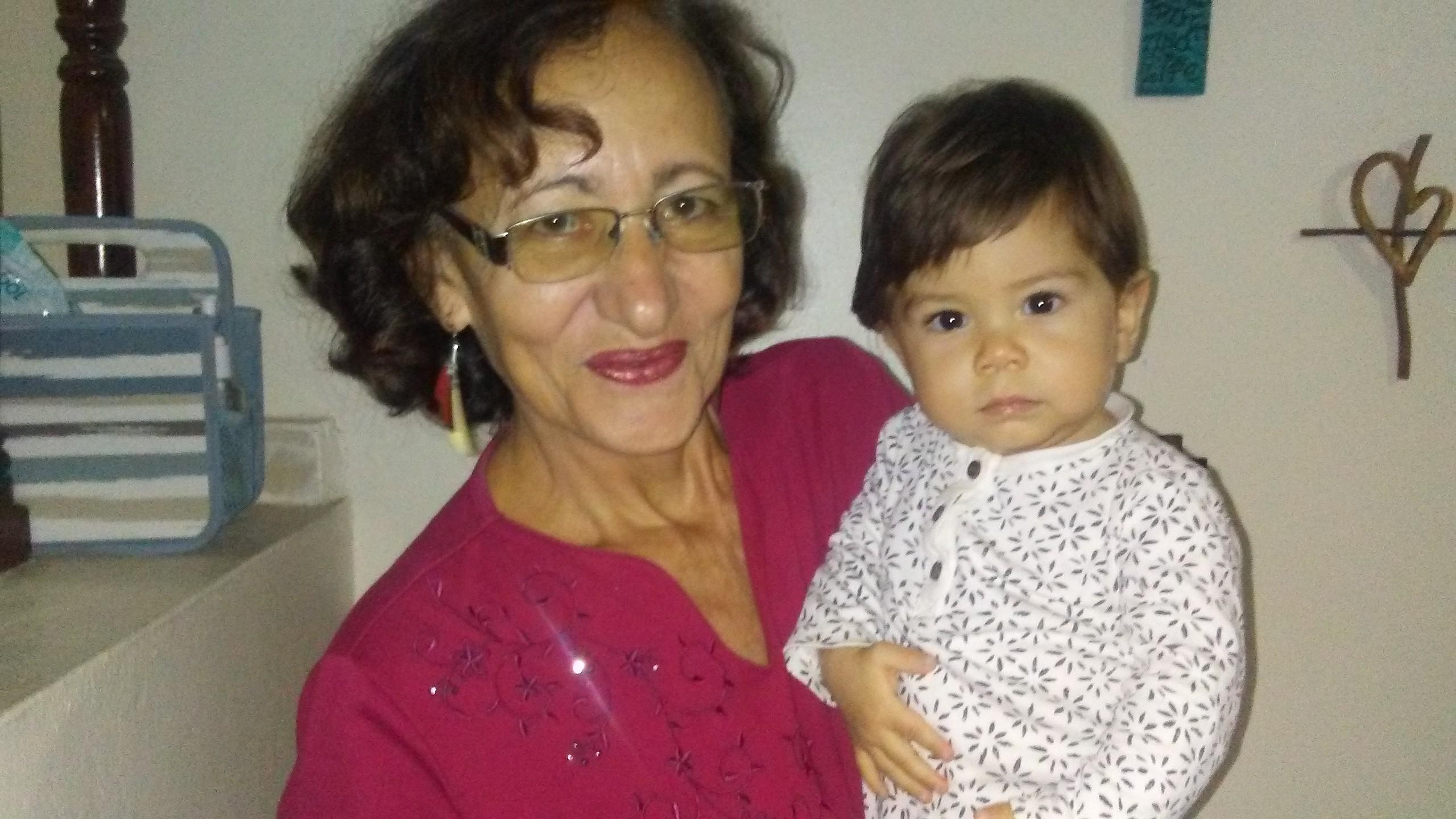 Luz Maria with Abraham Ramirez.