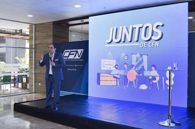 """Presentación del producto financiero """"JUNTOS"""" de CFN en Guayaquil"""