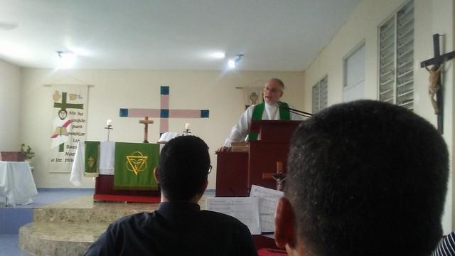 Mark Braden preaching.