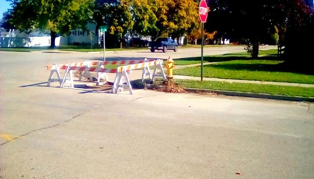 City water dept repair! Menominee Michigan