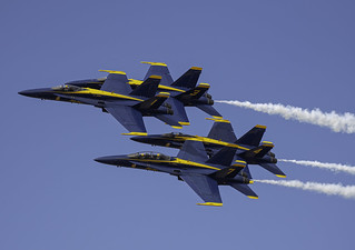Blue Angels Diamond with the VIP Plane