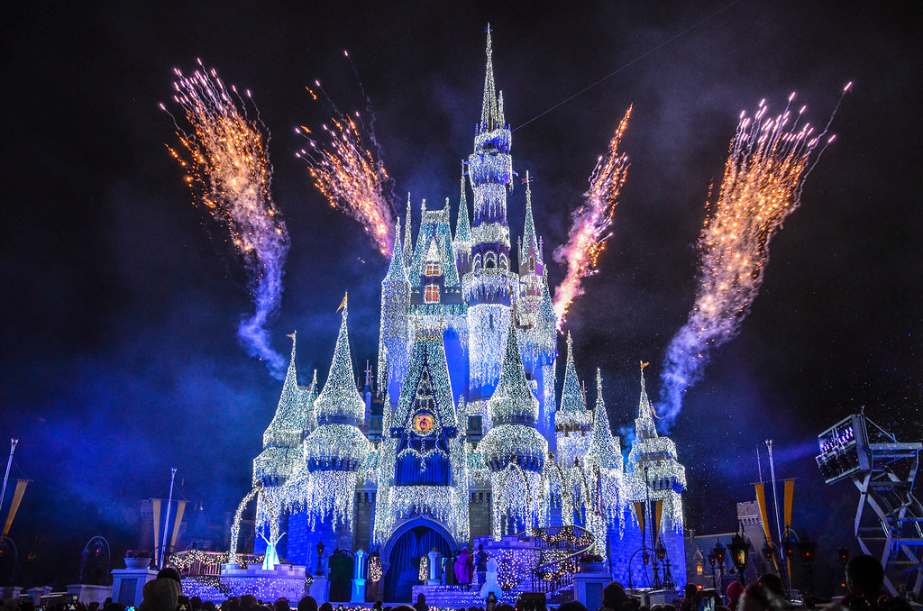 Frozen Holiday Wish MK fireworks