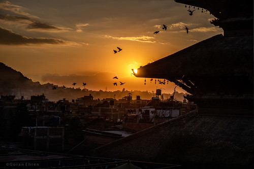 bhaktapur nepal nyatapola sunset morning fujixt3 birds happyplanet asiafavorites temple architechture buildingexterior traveldestinations scenic urbanskyline dusk dramaticsky