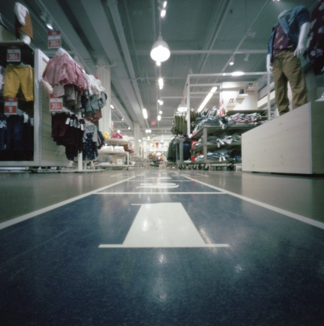 Clothing store hopscotch