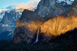 Yosemite Bridalveil Falls Sunset