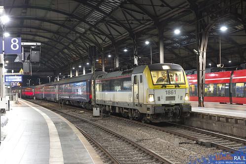 1861 . SNCB . E 13471 . Aachen Hbf . 19.11.19 .