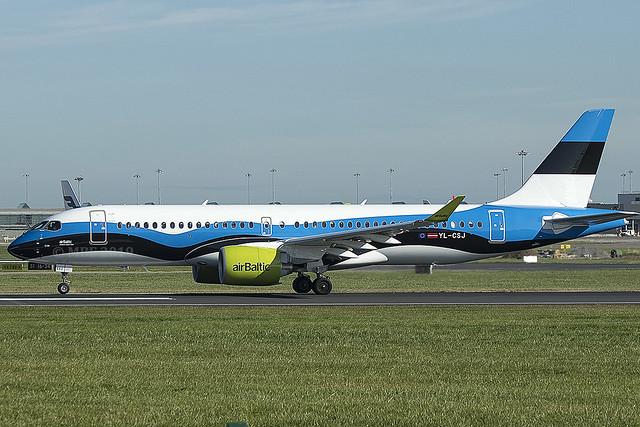 YL-CSJ | Air Baltic | Airbus A220-300 | CN 55038 | Built 2018 | DUB/EIDW 18/09/2019 |