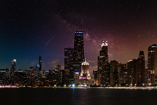 Starry Night in Chicago