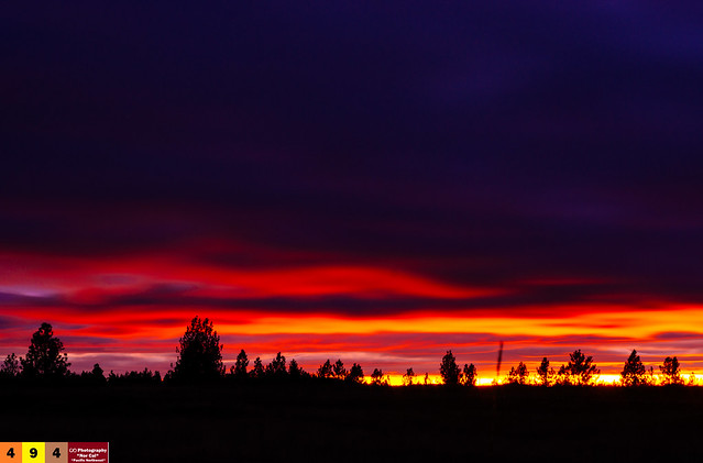 A Pacific Northwest Crush: A Dramatic Sunset (Part 254): Smooth & Greatly Exposed (In Technicolor)