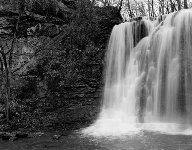 Hayden Falls in 4x5 film