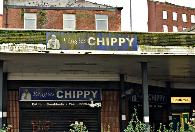Grim chippy in Stockport