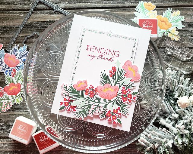 LizzieJones_TheGreetery_November2019_PineBlossom_NordicFrames_SendingMyThanksCard