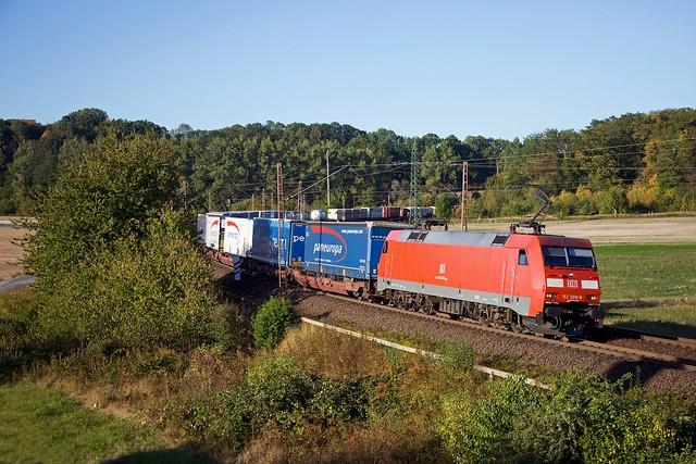 DB 152 089 + Güterzug/goederentrein/freight train   - Friedland