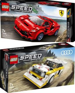 再追加兩台超讚跑車! LEGO 76895、76897 Speed Champions 系列【法拉利 F8 Tributo、奧迪 Sport Quattro S1】情報公開