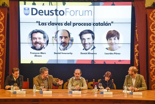 "DeustoForum. ""Las claves del proceso catalán"". Francesc-Marc Álvaro, Daniel Innerarity, Dani Álvarez, Lourdes Pérez"