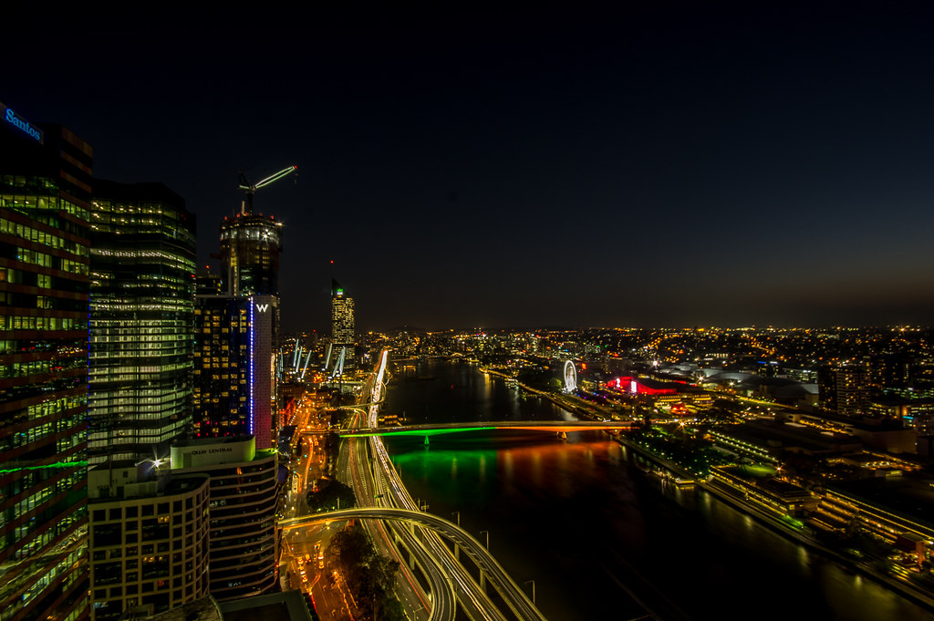 Brisbane from the 36th floor at night