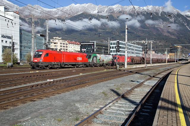 ÖBB 1116 080 + 1116 159 + 1216 005 Innsbruck Hbf