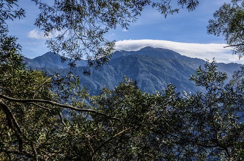 西良母嵐山稜線(H 1320 m)東望群山 1