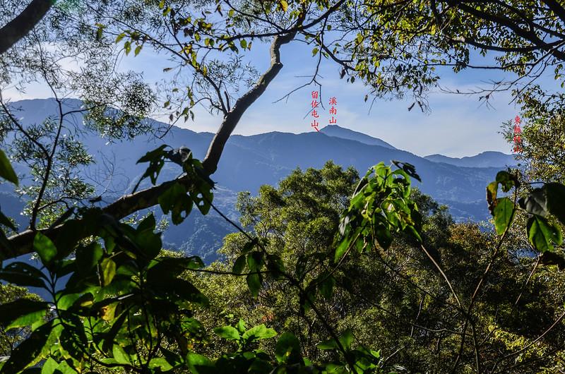西良母嵐山稜線(H 1160 m)南眺群山 1-1