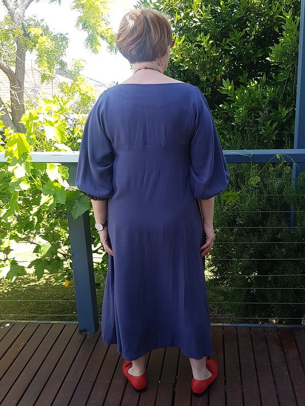 Pattern Fantastique Celestial dress with sleeve hack in tencel from Clear It