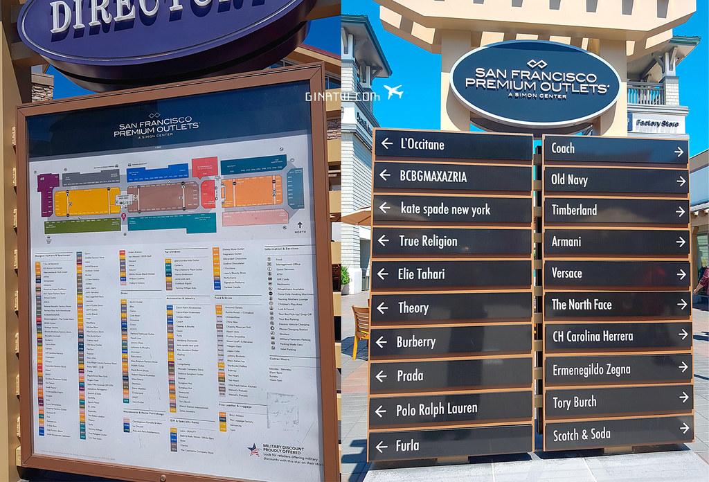 舊金山購物》San Francisco Premium Outlets 有什麼好買?戰利品分享 優惠卷下載教學 BART搭車轉14號公車交通方式(Tory Burch、Coach、Columbia哥倫比亞、The North Face北臉、TOMMY HILFIGER、GAP、MICHAEL KORS、KateSpade、Disney 迪士尼專賣店) @Gina Lin