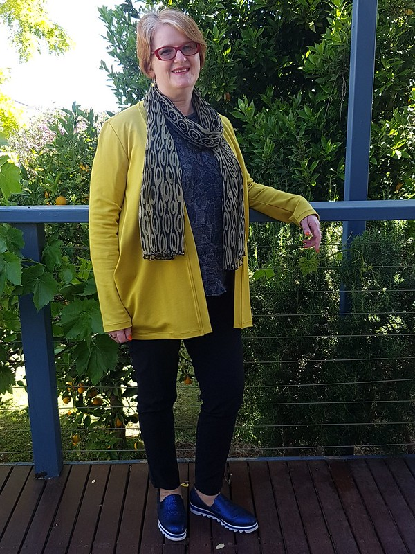 Style Arc Simone cardigan in ponte from Eliza Fabrics