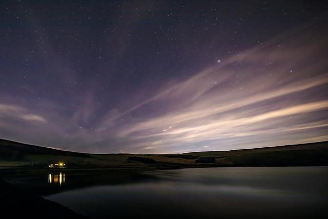 Upper Castleshaw Reservoir and Stars