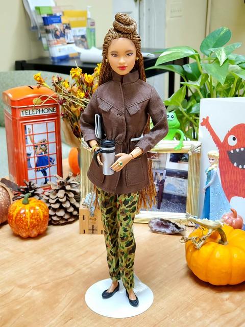 Millie, wearing vintage Jordache.