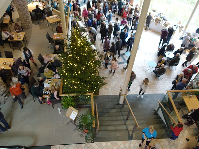 Looking down on Cumbria Life Christmas at Rheged 2019