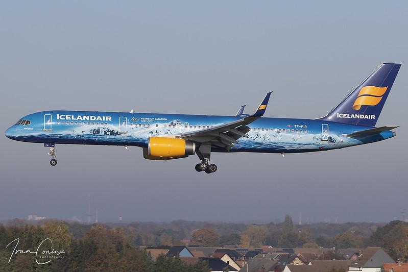 Boeing 757-256 – Icelandair – TF-FIR – Brussels Airport (BRU EBBR) – 2019 11 10 – Landing RWY 25L – 01 – Copyright © 2019 Ivan Coninx