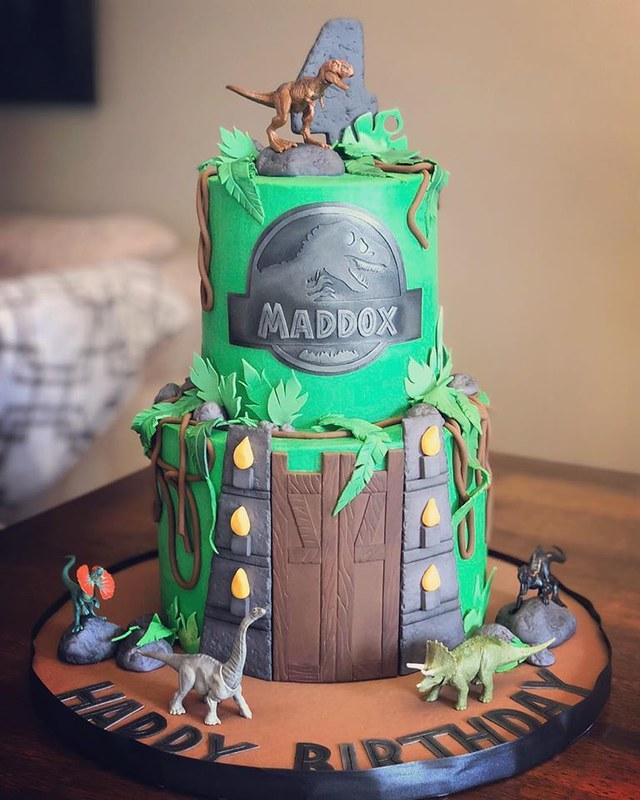 Jurassic World Themed Birthday Cake by B Sweet Cakery