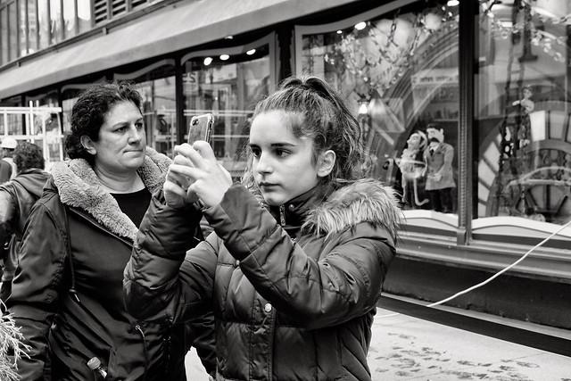 selfie girl on 34th street