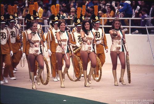 Baylor University Golden Girls and the Golden Wave Band, 1972