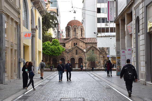 Ermou Street, east end, Athens