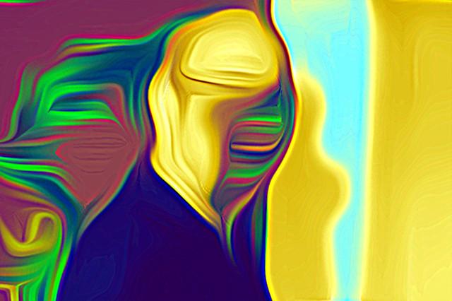 Bildschichten Mann 09 blinded