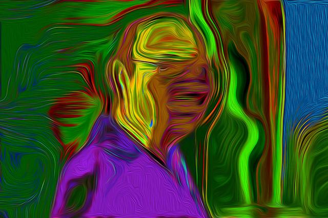 Bildschichten Mann 01  self-opinionated / Selbsteinschätzung