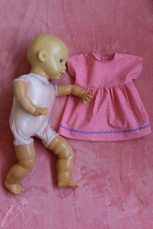 marchewkowa, blog, szycie, krawiectwo, stara lalka, naprawa, sewing, DIY, baby doll, creepy