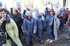 Staking en protestmars personeel OLVG Oost