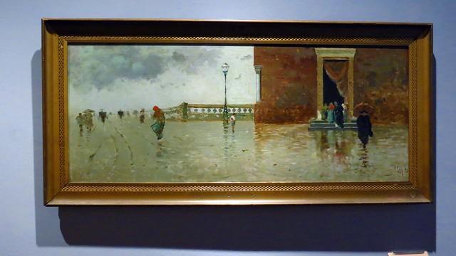 IMG_9265  - Michele Catti - Domenica piovosa - 1893 - olio su tavola