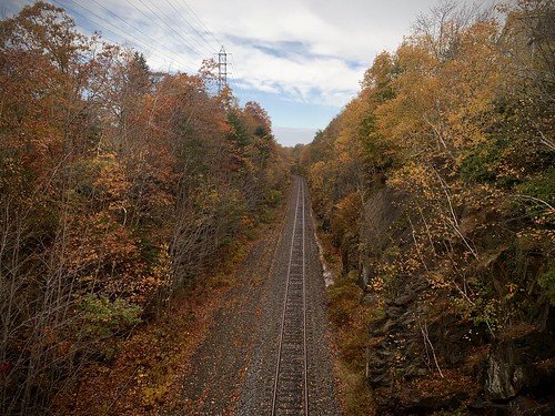 Fall Colour from Halifax South Street Railway Bridge