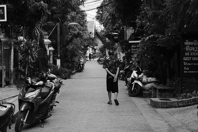 Man on a walk in Luang Prabang/Laos
